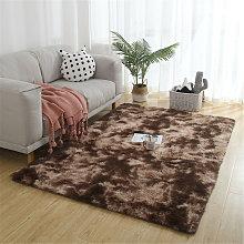 Large motley plush rug 140x200 cm