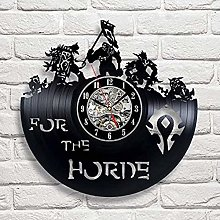 Large online game art vinyl wall clock gift room