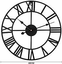 Large Outdoor Garden Wall Clock Nordic Metal