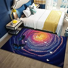 Large Outdoor Rug,Modern Cartoon Fantasy Butterfly