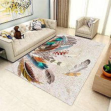 Large Outdoor Rug,Modern Distressed Colorful