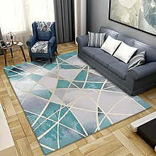 Large Outdoor Rug,Modern Fashion Teal And Light