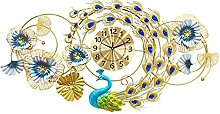 Large Peacock Wall Clock,Wall Clock for Living