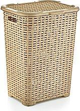 Large Plastic Laundry Basket Clothes Hamper Linen