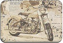 Large Puzzle Harley Davidson Rug Non-Slip Doormats