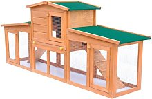 Large Rabbit Hutch Small Animal House Pet Cage
