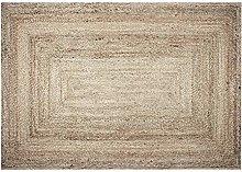 Large Rectangle Jute Rug for Living Room Decor -