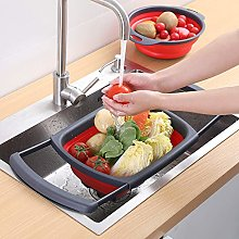 Large red Square scalable Vegetables Basin Drain