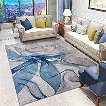 Large Rug Fur Rugs For Bedroom Gray-Blue Carpet,