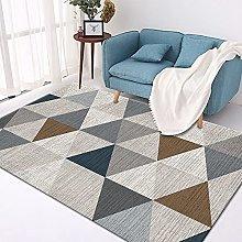 Large Rug, Modern Gray Triangle Geometric Pattern