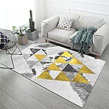 Large Rugs Cute Desk Decor Yellow gray triangle