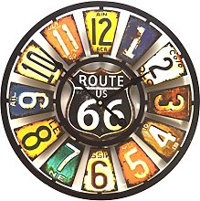 Large Rustic USA Number Plates Multi-Coloured Wall