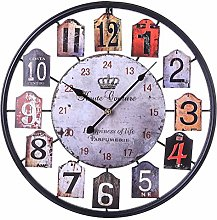 Large Shabby Chic Wall Clock, 50CM/20Inch Big