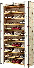 Large Shoe Rack With Cover, Save Space To Entrance