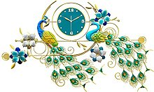 Large Silent Wall Clock,Peacock Wall Clocks for
