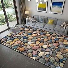 Large Soft Shaggy Floor Rug Mat 3D Stone Pattern