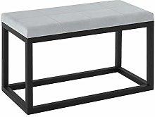 Large Stool - Grey Upholstery