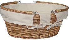 Large Swing Handle Wicker Basket Shopper