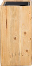 Large Tall Wooden Plant Pot Pine Indoor Outdoor with Insert 24 x 24 cm Sykia