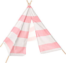 Large Teepee Tent Kids Cotton Canvas Pretend Play