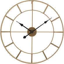 Large Vintage Metal Skeleton Wall Clock Outdoor