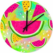 Large Wall Clock Kitchen Clock Colourful