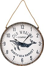 Large Wall Clock - Old Whaling Design, with