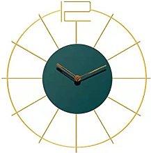 Large Wall Clocks 60cm, Metal Round Clock, Battery