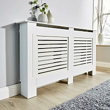 Large White Radiator Cover Wooden MDF Wall Cabinet