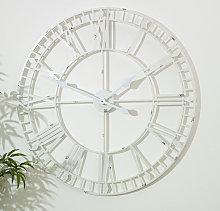 Large White Skeleton Wall Clock