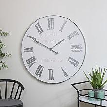Large White Vintage Wall Clock