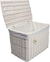 Large White Wicker Storage Basket,Storage Chest