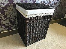 Large Wicker Laundry Basket Rattan Basket Bathroom