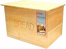 Large Wooden Bread Bin Bread Loaf Canister Vintage