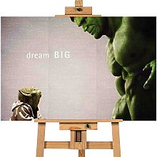 Large Yoda Hulk Think Big 12x16 inches | Canvas