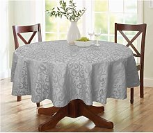 Lark Round Tablecloth Marlow Home Co. Colour: Grey
