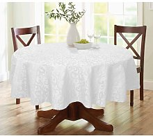 Lark Round Tablecloth Marlow Home Co. Colour: White