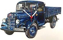 Larkrise Designs Bedford Lorry Clock - WT14