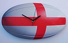 Larkrise Designs England Rugby Clock - RU1