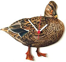 Larkrise Designs Hen Mallard Duck Clock - R9