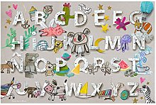 laroom Vinyl Carpet Children's Alphabet