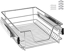 LARS360 400mm Pull Out Wire Storage Basket Drawer