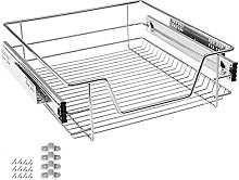 LARS360 500mm Pull Out Wire Storage Basket Drawer