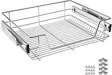 LARS360 600mm Pull Out Wire Storage Basket Drawer