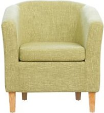 Larson Fabric Tub Chair, Green