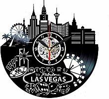 Las Vegas Clock Skyline Vinyl Clock Las Vegas