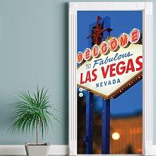 Las Vegas Door Sticker East Urban Home
