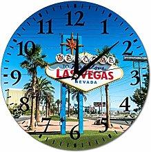 Las Vegas Nevada Wall Clock Silent Non Ticking