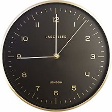 Lascelles London Gold Metal Cased Wall Clock with