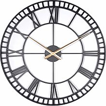 Lascelles London Large Metal Skeleton Wall Clock,